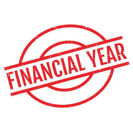 Financial Year rubber stamp