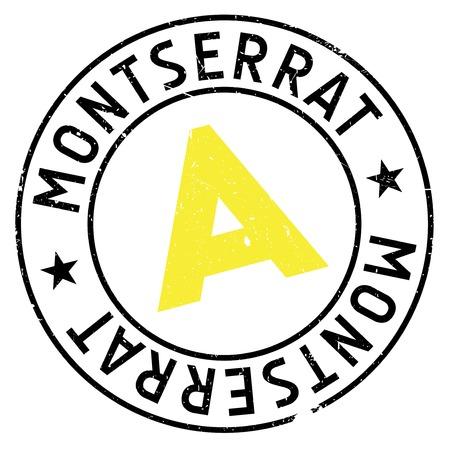 Montserrat stamp rubber grunge