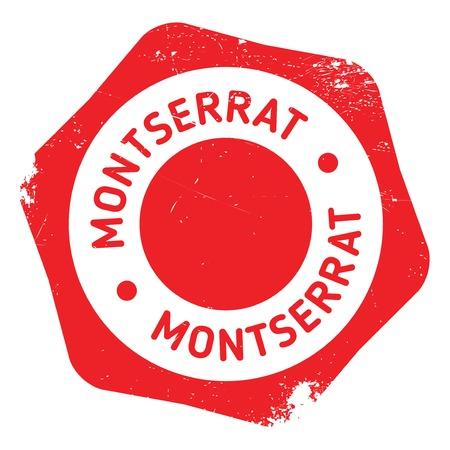 montserrat: Montserrat stamp rubber grunge