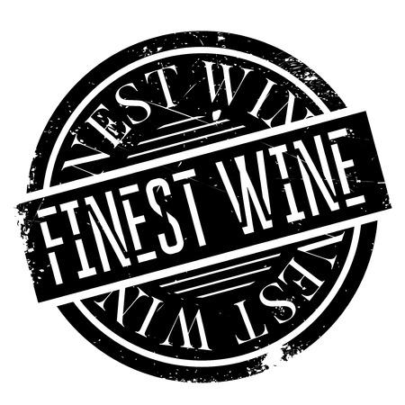 Finest Wine rubber stamp