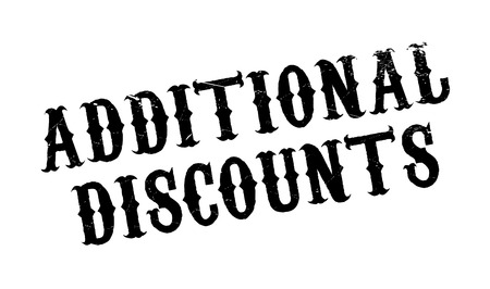 Additional Discounts rubber stamp