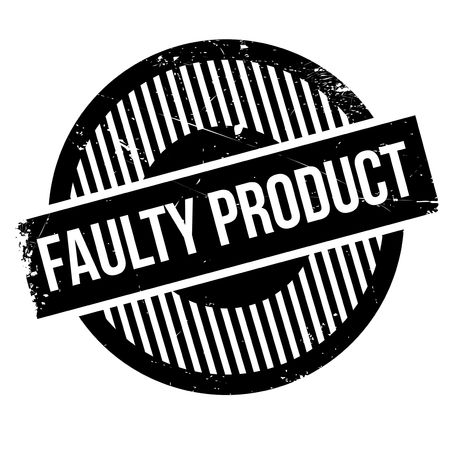 offence: Faulty Product rubber stamp. Grunge design with dust scratches. Effects can be easily removed for a clean, crisp look. Color is easily changed.