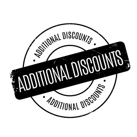 affixed: Additional Discounts rubber stamp