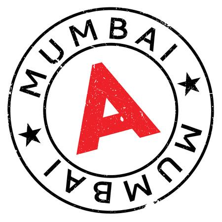 bombay: Mumbai stamp rubber grunge