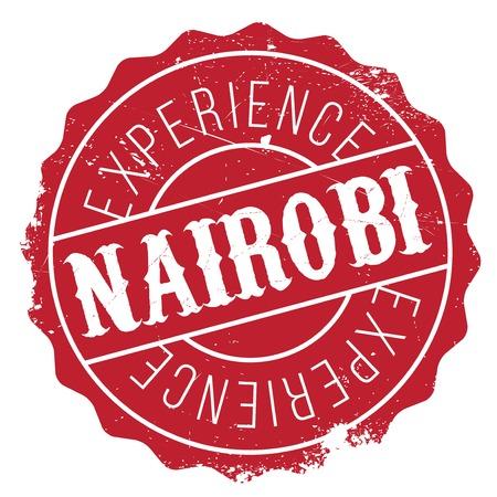 swahili: Nairobi stamp rubber grunge