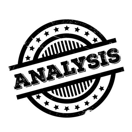 rubber tube: Analysis rubber stamp Illustration