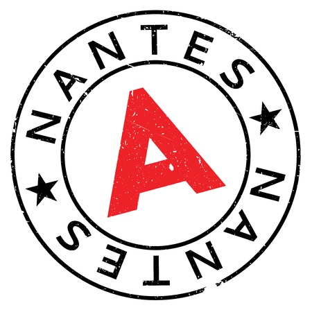 Nantes stamp rubber grunge