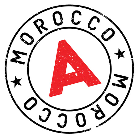 Morocco stamp rubber grunge