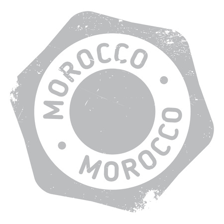 tangier: Morocco stamp rubber grunge