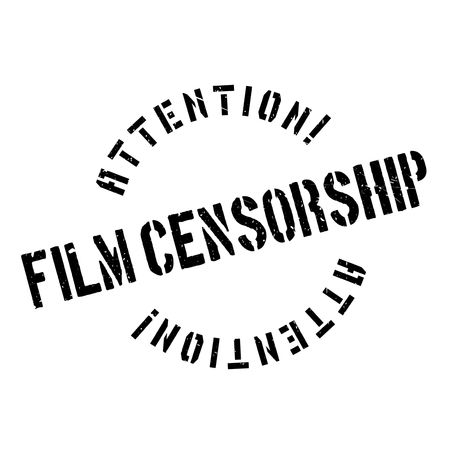 censoring: Film Censorship rubber stamp. Grunge design with dust scratches. Effects can be easily removed for a clean, crisp look. Color is easily changed.