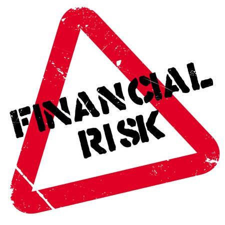 Financial Risk rubber stamp. Grunge design with dust scratches. Effects can be easily removed for a clean, crisp look. Color is easily changed.
