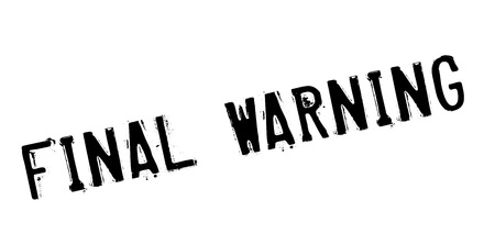 Final Warning rubber stamp. Grunge design with dust scratches. Effects can be easily removed for a clean, crisp look. Color is easily changed. Illustration