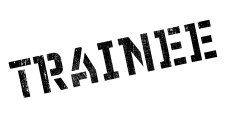 trainee: Trainee rubber stamp. Grunge design with dust scratches. Effects can be easily removed for a clean, crisp look. Color is easily changed.
