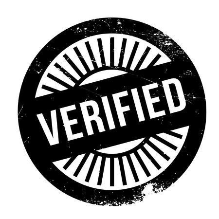 verified: Verified stamp rubber grunge