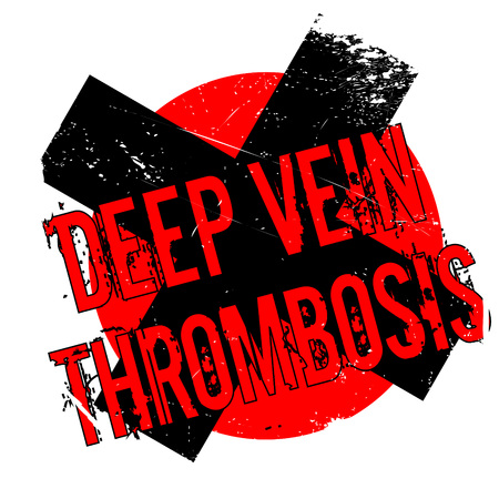 vein: Deep Vein Thrombosis rubber stamp Illustration