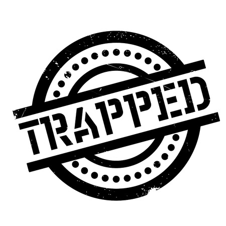 Trapped rubber stamp. Grunge design with dust scratches. Effects can be easily removed for a clean, crisp look. Color is easily changed.