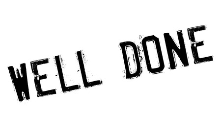 done: Well done stamp Illustration