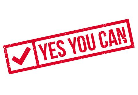 can yes you can: Yes you can stamp Illustration