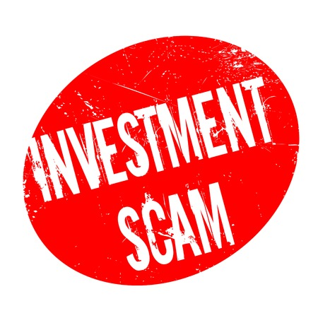 Investment Scam rubber stamp
