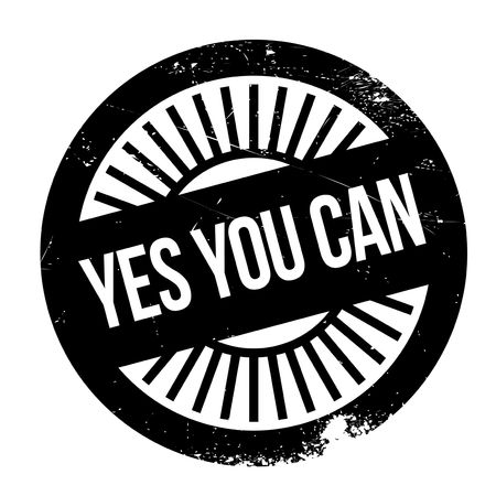 tu puedes: Yes you can stamp Vectores