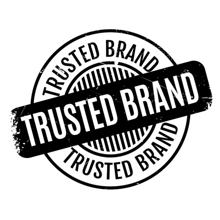 proved: Trusted Brand rubber stamp. Grunge design with dust scratches. Effects can be easily removed for a clean, crisp look. Color is easily changed.