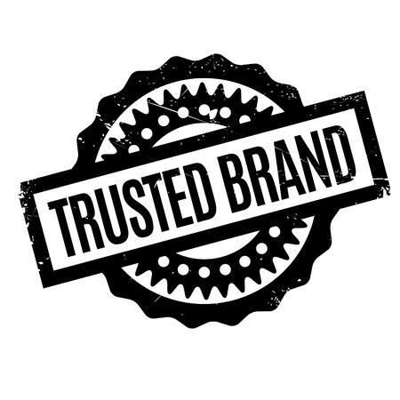 Trusted Brand Stempel. Grunge-Design mit Staub Kratzer. Die Effekte können leicht für einen sauberen, frischen Look entfernt werden. Die Farbe ist leicht verändert.