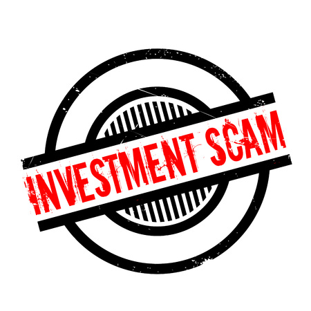 hoax: Investment Scam rubber stamp