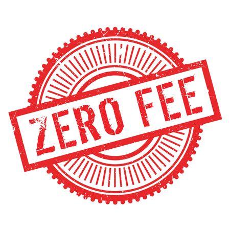 fee: Zero fee stamp