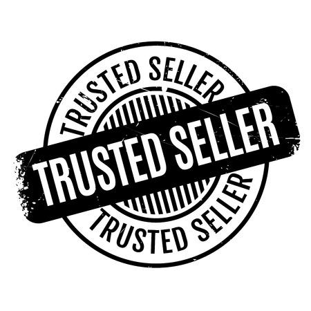 Trusted Seller Stempel. Grunge-Design mit Staub Kratzer. Die Effekte können leicht für einen sauberen, frischen Look entfernt werden. Die Farbe ist leicht verändert.