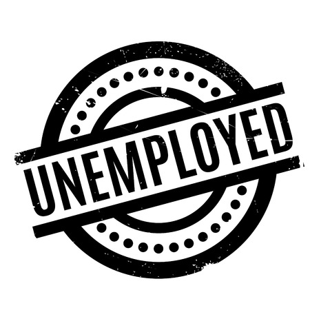 now hiring: Unemployed rubber stamp. Grunge design with dust scratches. Effects can be easily removed for a clean, crisp look. Color is easily changed. Illustration