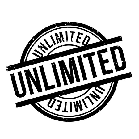 unrestricted: Unlimited rubber stamp. Grunge design with dust scratches. Effects can be easily removed for a clean, crisp look. Color is easily changed. Illustration