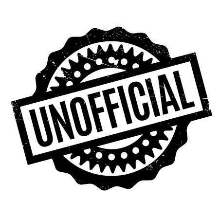 unauthorised: Unofficial rubber stamp. Grunge design with dust scratches. Effects can be easily removed for a clean, crisp look. Color is easily changed. Illustration