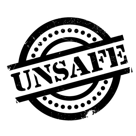 indecisive: Unsafe rubber stamp. Grunge design with dust scratches. Effects can be easily removed for a clean, crisp look. Color is easily changed.