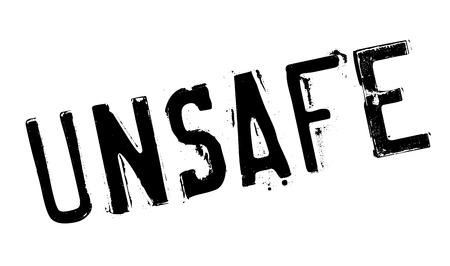 unsafe: Unsafe rubber stamp. Grunge design with dust scratches. Effects can be easily removed for a clean, crisp look. Color is easily changed.