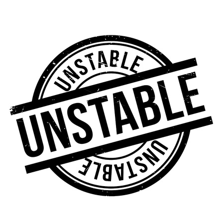 Unstable rubber stamp. Grunge design with dust scratches. Effects can be easily removed for a clean, crisp look. Color is easily changed. Illustration