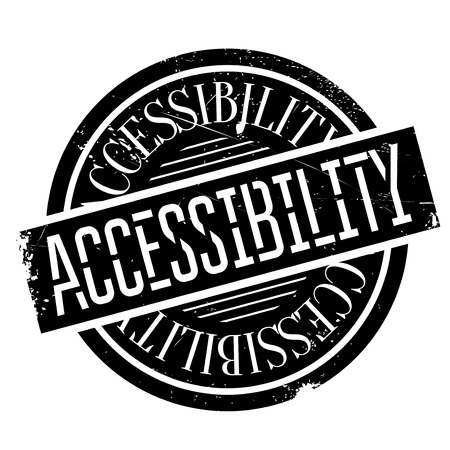 Accessibility rubber stamp. Grunge design with dust scratches. Effects can be easily removed for a clean, crisp look. Color is easily changed. Çizim