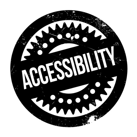 accessibility: Accessibility rubber stamp. Grunge design with dust scratches. Effects can be easily removed for a clean, crisp look. Color is easily changed. Illustration