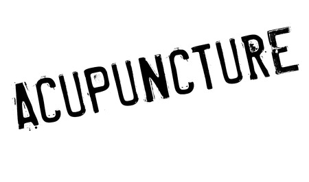 stimulation: Acupuncture rubber stamp. Grunge design with dust scratches. Effects can be easily removed for a clean, crisp look. Color is easily changed. Stock Photo