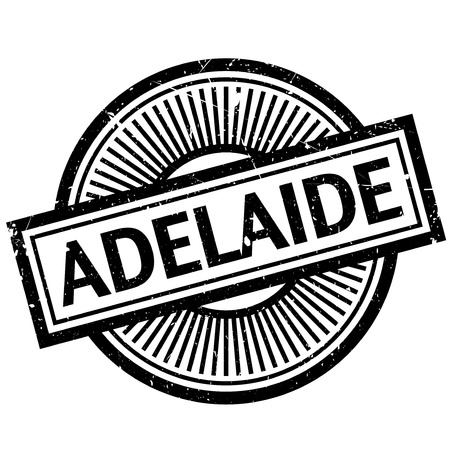 Adelaide rubber stamp. Grunge design with dust scratches. Effects can be easily removed for a clean, crisp look. Color is easily changed. Illustration