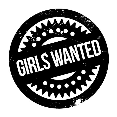 Girls Wanted rubber stamp. Grunge design with dust scratches. Effects can be easily removed for a clean, crisp look. Color is easily changed. Illustration