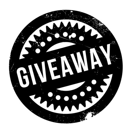 markdown: Giveaway rubber stamp. Grunge design with dust scratches. Effects can be easily removed for a clean, crisp look. Color is easily changed.