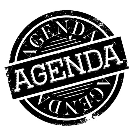 schedule system: Agenda rubber stamp. Grunge design with dust scratches. Effects can be easily removed for a clean, crisp look. Color is easily changed.