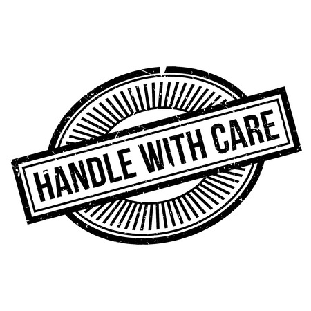 breakable: Handle With Care rubber stamp. Grunge design with dust scratches. Effects can be easily removed for a clean, crisp look. Color is easily changed. Illustration