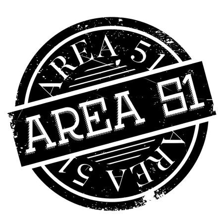 Area 51 tampon en caoutchouc. conception grunge avec des rayures de poussière. Les effets peuvent être facilement enlevés pour un aspect propre et croustillant. La couleur est facilement changée.