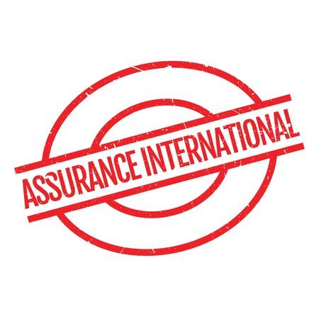 Assurance International Stempel. Grunge-Design mit Staub Kratzer. Die Effekte können leicht für einen sauberen, frischen Look entfernt werden. Die Farbe ist leicht verändert.
