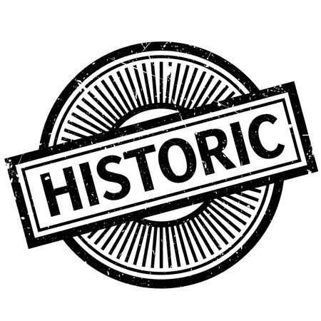 Historic rubber stamp. Grunge design with dust scratches. Effects can be easily removed for a clean, crisp look. Color is easily changed.