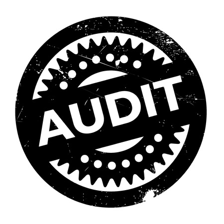 Audit rubber stamp. Grunge design with dust scratches. Effects can be easily removed for a clean, crisp look. Color is easily changed.
