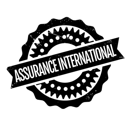 ensuring: Assurance International rubber stamp. Grunge design with dust scratches. Effects can be easily removed for a clean, crisp look. Color is easily changed.
