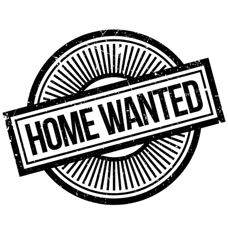 domicile: Home Wanted rubber stamp. Grunge design with dust scratches. Effects can be easily removed for a clean, crisp look. Color is easily changed.