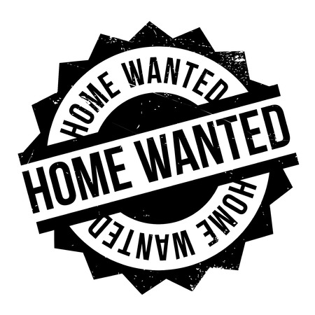 Home Wanted rubber stamp. Grunge design with dust scratches. Effects can be easily removed for a clean, crisp look. Color is easily changed.